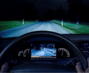 What is the importance of a large field vision when driving a car?